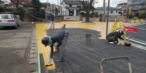 塗布式カラー舗装:施工事例